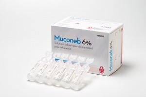 Muconeb 6%, solución salina hipertónica estéril para inhalación.